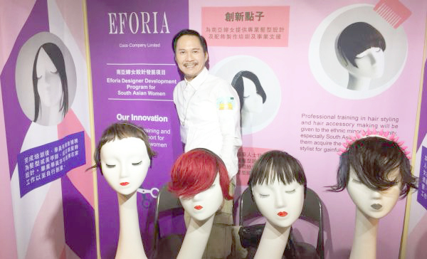Ming Liu, designer of hair wear